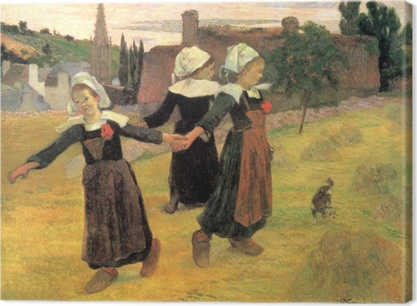 Obraz na płótnie Paul Gauguin - Tańczące Bretonki - Reprodukcje