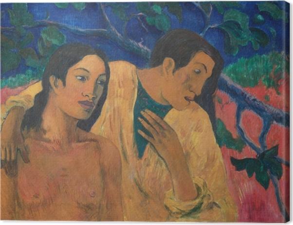 Obraz na płótnie Paul Gauguin - Ucieczka - Reprodukcje