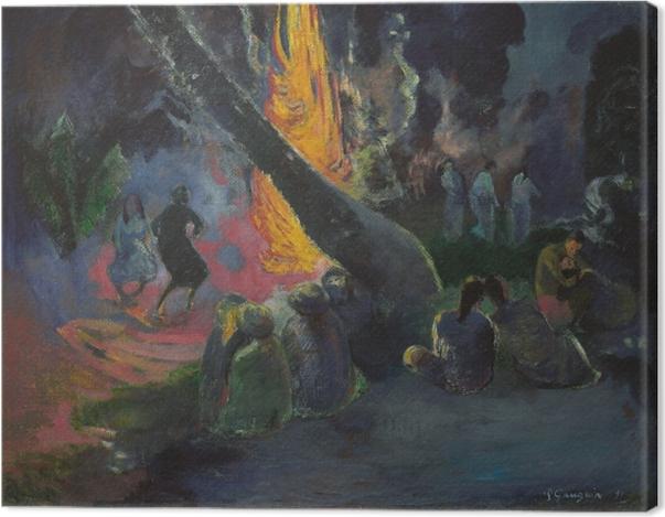 Obraz na płótnie Paul Gauguin - Upa upa (Taniec ognia) - Reprodukcje
