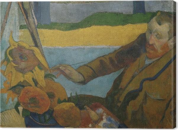 """Obraz na płótnie Paul Gauguin - Van Gogh malujący """"Słoneczniki"""" - Reprodukcje"""