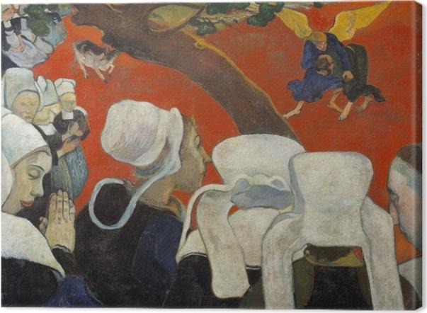 Obraz na płótnie Paul Gauguin - Wizja po kazaniu - Reprodukcje