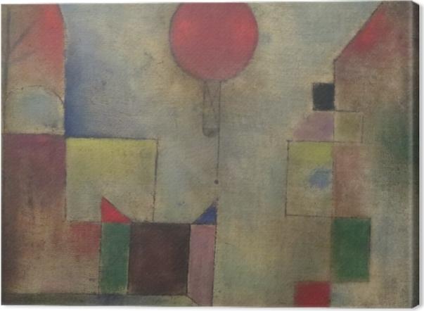 Obraz na płótnie Paul Klee - Czerwony balon - Reprodukcje