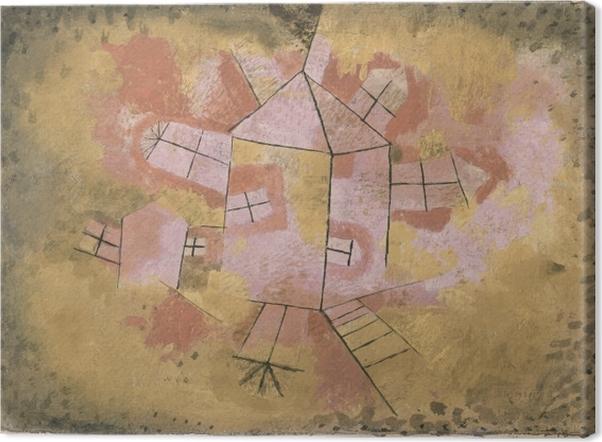 Obraz na płótnie Paul Klee - Obracający się dom - Reprodukcje