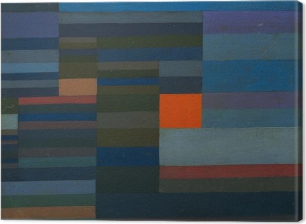 Obraz na płótnie Paul Klee - Wieczorny pożar - Reprodukcje