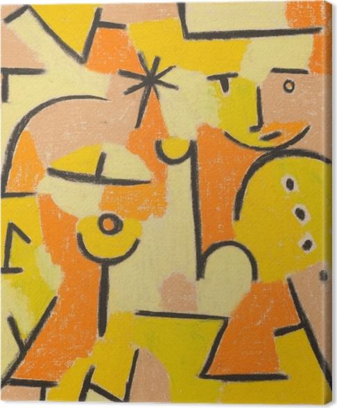 Obraz na płótnie Paul Klee - Żółta postać - Reprodukcje
