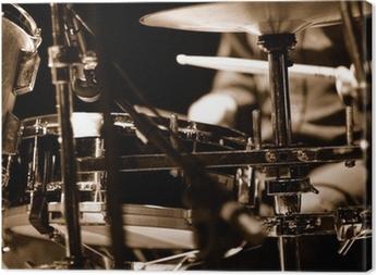 Obraz na płótnie Perkusista na scenie