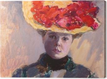 Obraz na płótnie Pierre Bonnard - Dziewczyna w słomkowym kapeluszu