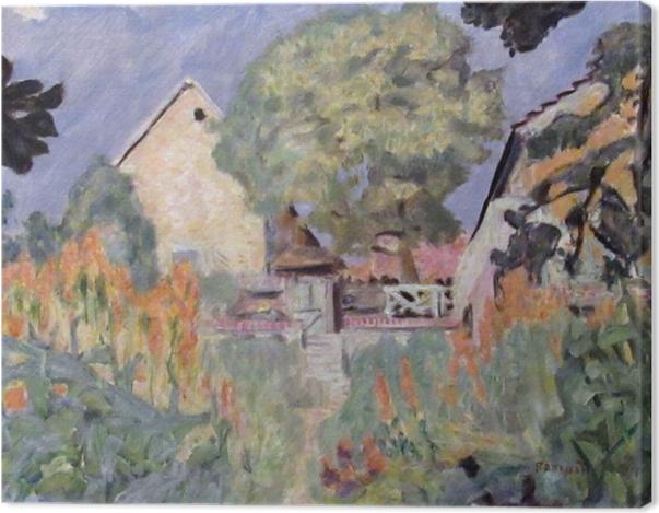 Obraz na płótnie Pierre Bonnard - Mój dom w Vernon - ogród - Reproductions