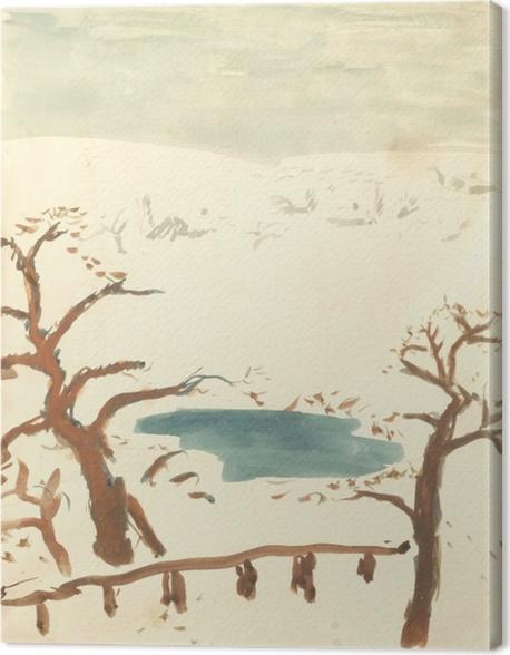 Obraz na płótnie Pierre Bonnard - Pejzaż zimowy - Reproductions