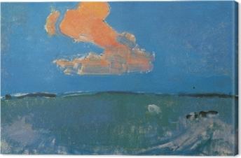 Obraz na płótnie Piet Mondrian - Czerwona chmura