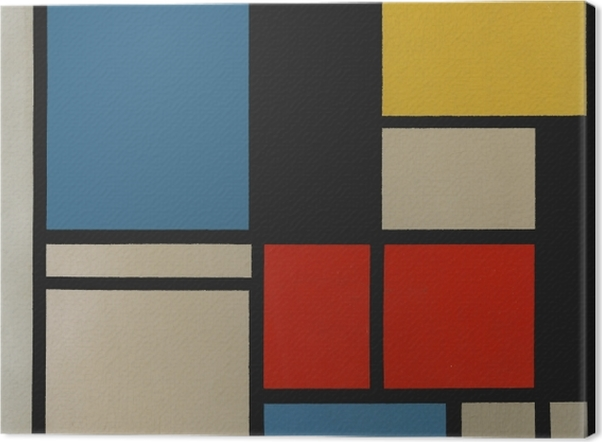 Obraz na płótnie Piet Mondrian - Kompozycja C - Reprodukcje