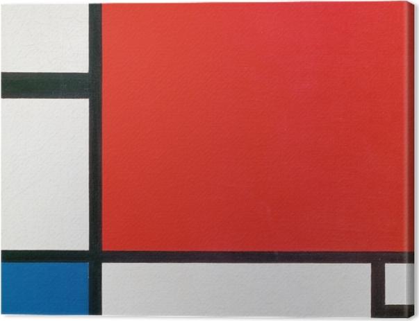Obraz na płótnie Piet Mondrian - Kompozycja II w kolorze czerwonym, niebieskim i żółtym - Reprodukcje