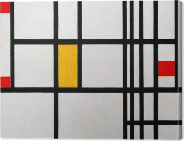 Obraz na płótnie Piet Mondrian - Kompozycja w czerwieni, błękicie i żółcieni - Reprodukcje