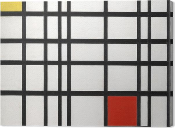 Obraz na płótnie Piet Mondrian - Kompozycja z żółtym, niebieskim i czerwonym - Reprodukcje