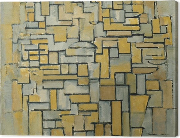 Obraz na płótnie Piet Mondrian - Kompozycja - Reprodukcje