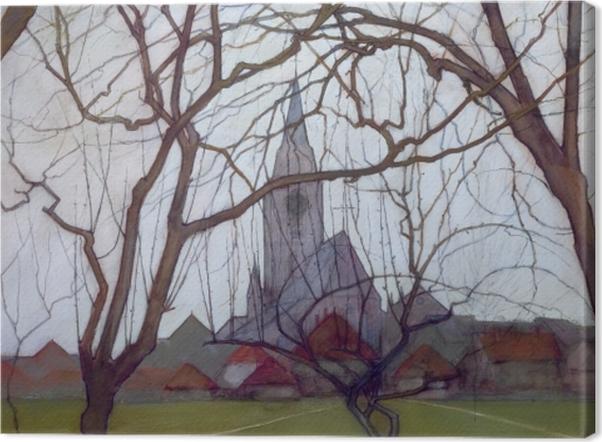 Obraz na płótnie Piet Mondrian - Wiejski kościół - Reprodukcje