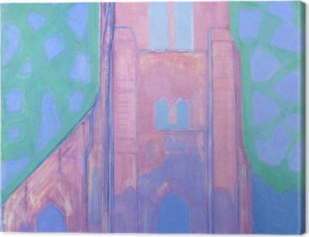 Obraz na płótnie Piet Mondrian - Wieża kościoła w Domburgu - Reprodukcje