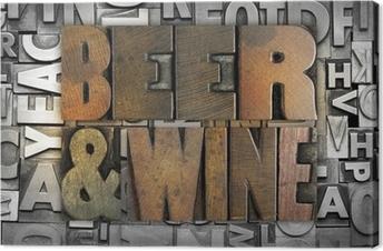 Obraz na płótnie Piwo i wino