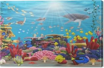 Obraz na płótnie Podwodny raj