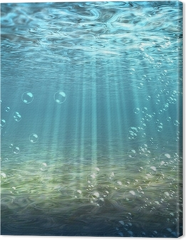 Obraz na płótnie Podwodny, woda, na dole, dno morskie, ocean, niebieski