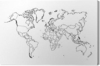 Obraz na płótnie Polityczna mapa świata wektor ilustracji.