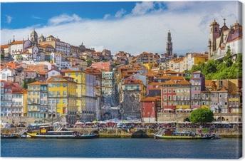 Obraz na płótnie Porto, Portugalia Old City Skyline na rzece Douro