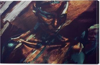 Obraz na płótnie Portret kobiety w ciemnych kolorowych farb