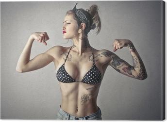 Obraz na płótnie Potężna alternatywa dziewczyna