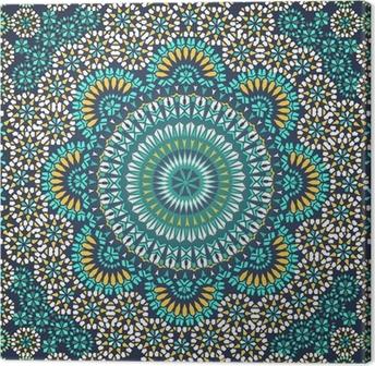 Obraz na płótnie Powtarzalne deseń w stylu mozaiki etnicznej.