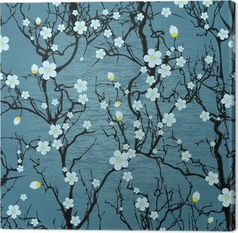 Obraz na płótnie Powtarzalne wzór drzewa. japoński kwiat wiśni