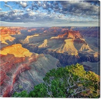 Obraz na Płótnie Promienie poranka w Wielkim Kanionie