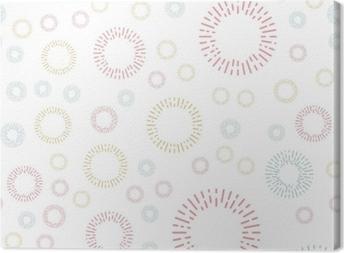 Obraz na płótnie Prosty wzór włókienniczych bez szwu z kolorowymi elementami okrągłymi. tło wektor illusrtration.