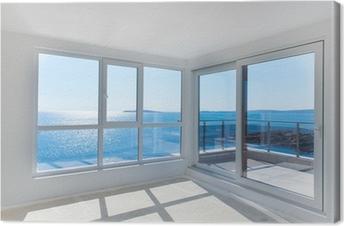 Obraz na płótnie Pusty pokój z widokiem na morze