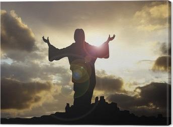 Obraz na płótnie Ramiona Jezus podniósł 1