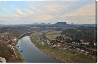 Obraz na płótnie Diabelski Most nad Bode w górach Harz