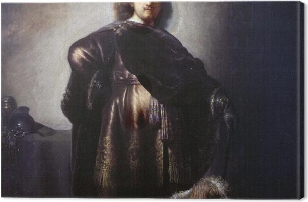Obraz na płótnie Rembrandt - Autoportret w stroju orientalnym - Reprodukcje