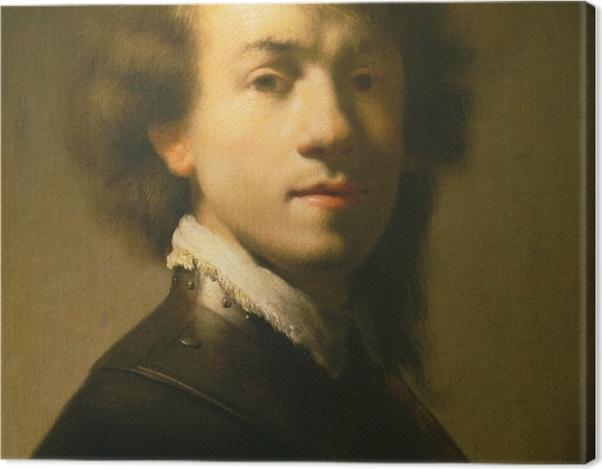 Obraz na płótnie Rembrandt - Autoportret z napierśnikiem - Reprodukcje