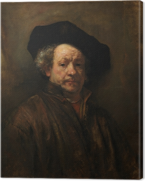 Obraz na płótnie Rembrandt - Autoportret - Reprodukcje