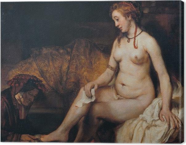 Obraz na płótnie Rembrandt - Batszeba w kąpieli - Reprodukcje