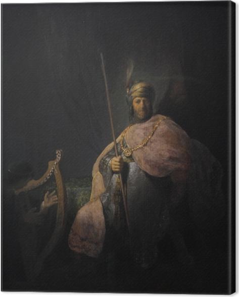 Obraz na płótnie Rembrandt - Dwaid grający na harfie Saulowi - Reprodukcje