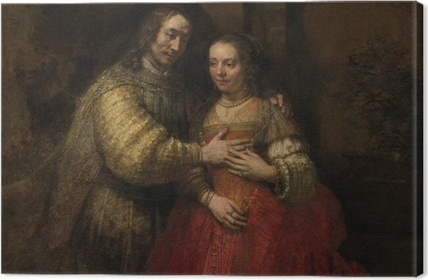 Obraz na płótnie Rembrandt - Izaak i Rebeka - Reprodukcje