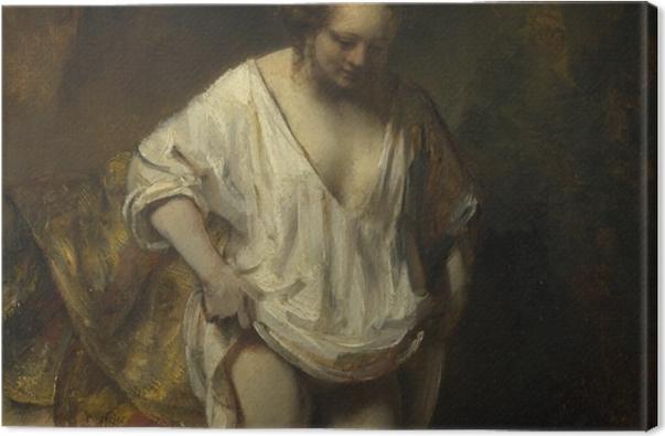 Obraz na płótnie Rembrandt - Kąpiąca się dziewczyna - Reprodukcje