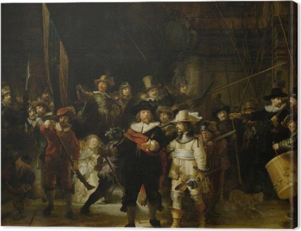 Obraz na płótnie Rembrandt - Kompania Fransa Banninga Cocqa i Willema van Ruytenburcha - Reprodukcje