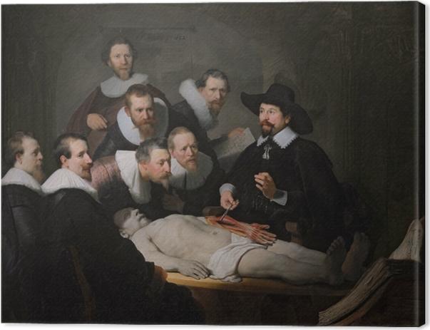Obraz na płótnie Rembrandt - Lekcja anatomii doktora Tulpa - Reprodukcje