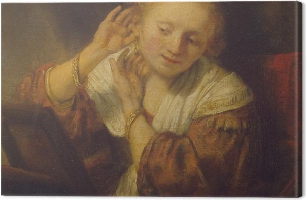 Obraz na płótnie Rembrandt - Młoda dziewczyna z kolczykami - Reprodukcje