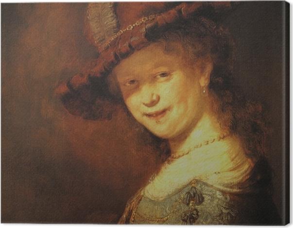 Obraz na płótnie Rembrandt - Młoda Saskia - Reprodukcje