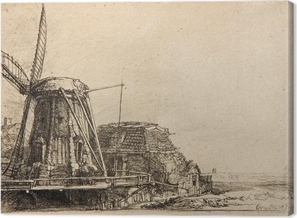 Obraz na płótnie Rembrandt - Młyn - Reprodukcje