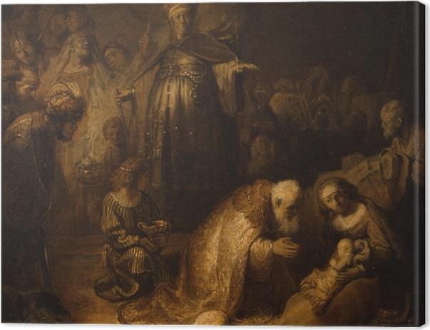 Obraz na płótnie Rembrandt - Pokłon Trzech króli - Reprodukcje