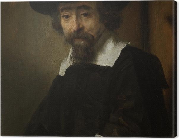 Obraz na płótnie Rembrandt - Portret Dr. Ephraima Bueno - Reprodukcje