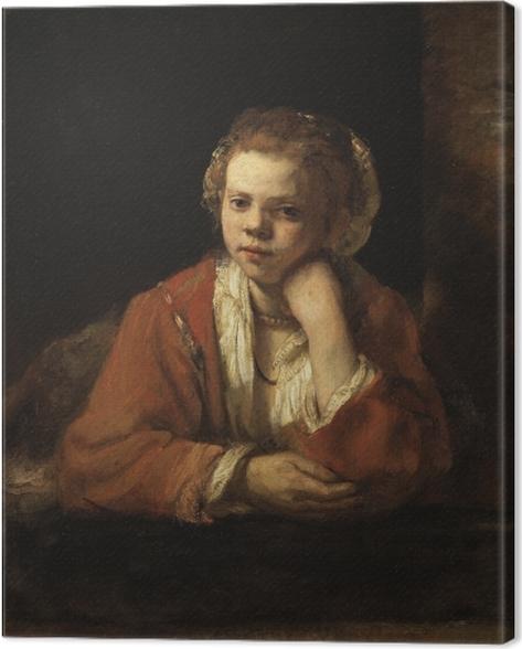 Obraz na płótnie Rembrandt - Portret dziewczyny w oknie - Reprodukcje